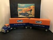 Original Vintage Gmc Rexall Truck With Both Trailers And Box
