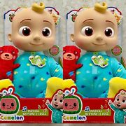 Cocomelon Musical Bedtime Jj Doll With Plush Tummy And Roto Head Lot Of 2