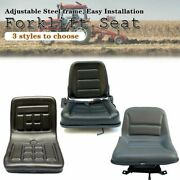 Lawn Mower Seat Universal Forklift Tractor Seat Slidable Pvc Seating W/ Backrest