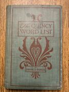 Antique 1901 Book-frank E. Parlin Signed-1st Copy, 1st Edition-quincy Word List