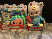 Cocomelon Bedtime Jj Doll Plush And Musical Doctor Set Bundle New Free Shipping