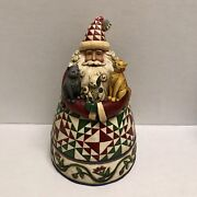 Rare Hard To Find 2007 Jim Shore A Cat Lovers Christmas Santa W/ Kitty Figurine