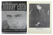 Johnny Cash On Stage In 1963 Autographed Hollywood Bowl Program Beckett Coa
