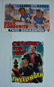 Laurel And Hardy Two Original Belgium Movie Posters From 1960and039s