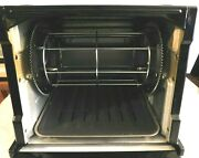 Ronco Compact Showtime Rotisserie And Bbq Oven Slightly Used Black Model 3000qb