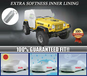 Dust-proof Waterproof Suv Cover Protect Car Cover For 1997-2006 Jeep Wrangler Tj