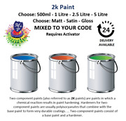 2k Paint - Mixed To Your Colour Code - Choose Your Quantity + Sheen - 2 Pack