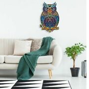 Unique Wooden Jigsaw Puzzles Mysterious Owl Puzzle Gift For Adults Kids Educatio