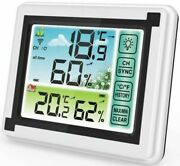 Weather Station Digital Thermometer Hygrometer Indoor Outdoor Lcd Temperature