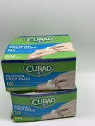 2- Curad Alcohol Swabs Antiseptic Wipes Sterile 200 Count Ea
