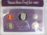 1987 And 1988 -s Us Mint 5-coin Proof Set W/box