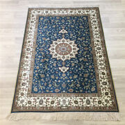 Yilong 3and039x4and039 Small Handmade Silk Carpet Blue Home Decor Oriental Area Rug 176a