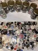 💎100's And 100's Of Vintage Small To Huge Buttons Mixed Materials Old Huge Lot💎