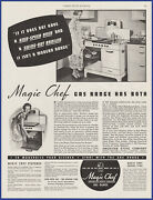 Vintage 1937 Magic Chef Gas Range Stove Oven Kitchen Appliance 30and039s Print Ad