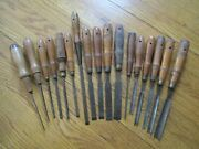 Antique Woodworking Woodcarving Tools -17 Carving Chisels Buck Bros.