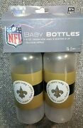 Nfl New Orleans Saints Pair Of Baby Bottles 9oz Bpa Free 3 Months And Up