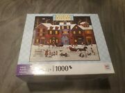 Charles Wysocki A Merry Christmas Street 1000 Pc Puzzle Used Bagged Hasbro Mb