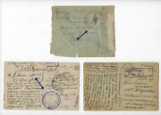 Wwi Russia France Military Post The Russian Expeditionary Force 2 Cards 1 Cover