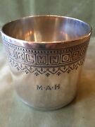 Rare Antique Tiffanyandco Sterling Silver Alphabet Baby Cup