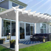Grey Pergola Replacement Shade Cover Waterproof For Patio Deck Slide Wire Wave