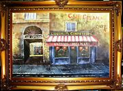 Cafe Restaurant Antique Store 24 Textured Painted Oil Painting Art Gift F113