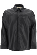 New 1017 Alyx 9sm Drake Leather Shirt Aaush0028le01 Black Authentic Nwt
