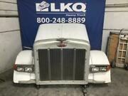 White 1990 Peterbilt 379 Hood Assembly W/ Grille And Headlamps