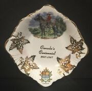 Windsor Bone China Small Dish Canadaand039s Contennial 1867-1967 Collectible