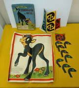 Put The Tail On Ferdinand The Bull Party Game Whitman 1938 Complete Walt Disney