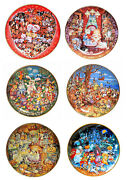 Bill Bell Limited Edition Holiday Themed Franklin Mint Collector Plates