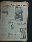 Rare 11 Lot Roberto Clemente Pirates Vintage 1960's Sports Sections Newspapers