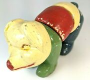 Porky Twistums Pig 1920's Antique Wood Jointed Atascadero Ca Toy