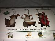 Charming Tails Sounds Of The Season Dean Griff Nib 3 Christmas Ornaments