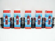 6 X Nos Telefunken Gz34 - 5ar4 Tested Very Strong Vacuum Rectifier Rare Tubes