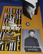 Lionel Richie Back To Front Press Folder, Japanese Folded Poster, Button ++
