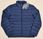 New S M L Xl Xxl Polo Mens Down Jacket Puffer Packable Navy Coat