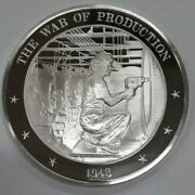 Franklin Mint History Of The U.s. Sterling Silver Medal 1943 War Of Production