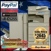 Canon Advance Ir-c5255 Color Copier With Booklet Maker Finisher Printer/scanner