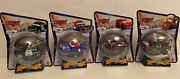 Disney Cars Toys R Us Tru Christmas Holiday Set Of 4 Diecast In Ornament Globes