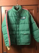 Vintage 80s Mountain Dew Promotional Swingster Coat Size L The Dew Crew