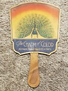 Antique Putnamand039s Fadeless Dyes And Tints Fabric Dye Advertising Cardboard Hand Fan