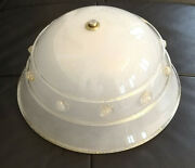 Barovier And Toso Murano Venice Vintage Art Glass Modern Ceiling Lamp Light Gold
