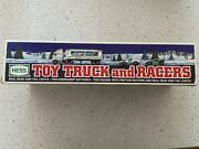 Hess 1997 Toy Truck With 2 Racers New In Box