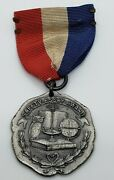 1926 National Automobile Chamber Comm. Sterling Silver Safety Essay Award Medal