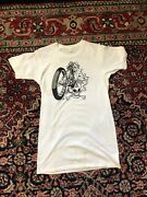 Vintage 1978 Skull Sex Drugs And Motorcycles T Shirt Size Large George Haves