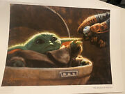 Baby Yoda Art/ Limited Edition Painting/drawing/ Disney Festival Of The Arts