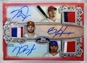 2020 Topps Sterling Mike Trout Bryce Harper Kris Bryant Triple Auto Relics 3/5🔥