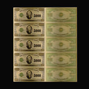 10pcs 1918 Year 5000 Dollar 24k Gold Foil Gold Banknote For Father Souvenir Gift
