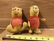 Rare Old Winnie The Pooh Dolls Wood Chip Filled