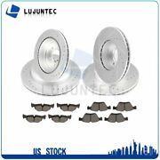 Fits Bmw 325i Sedan Front Rear Brake Rotors And Pads Drilled Slotted